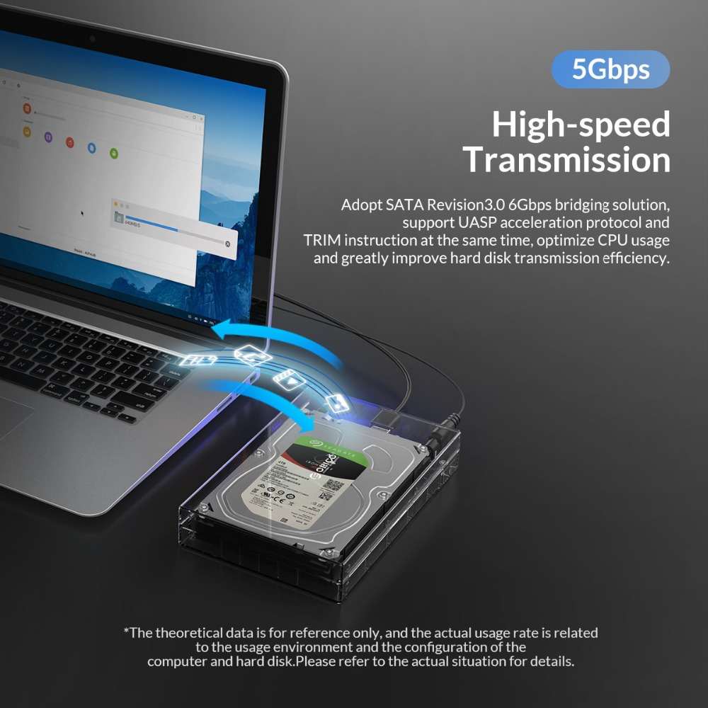 lowest price 3 5 inch Hard Disk Drive Case SATA to USB3 0 Adapter External HDD Enclosure High Speed 5Gbps SATA to USB3 0 HDD Enclosure Case