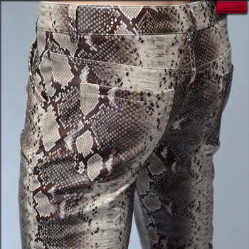 2019 Fashion Men Slim Faux Python Snake Print Leather Pants Men's Personality PU Leather Trousers Chandal Male High Quality - DISCOUNT ITEM  20% OFF All Category