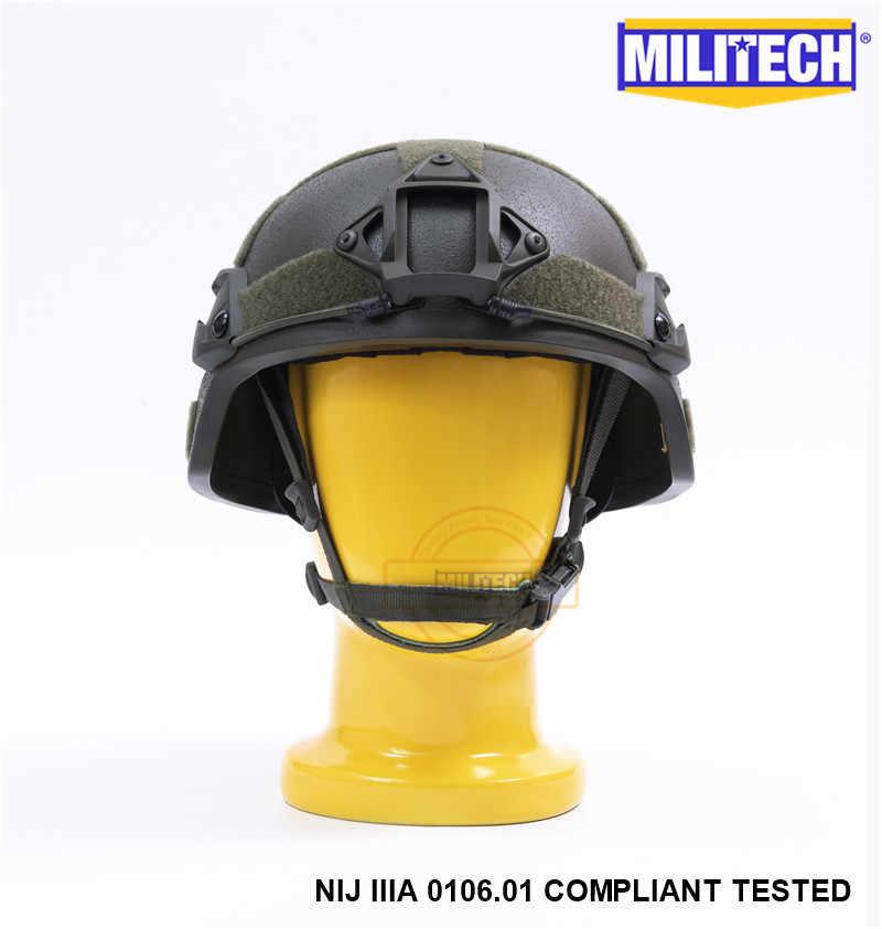 MILITECH OD MICH ACH ARC OCC циферблат NIJ уровень IIIA 3A Aramid пуленепробиваемый баллистический шлем с Тактический шлем для пейнтбола комплект козырька