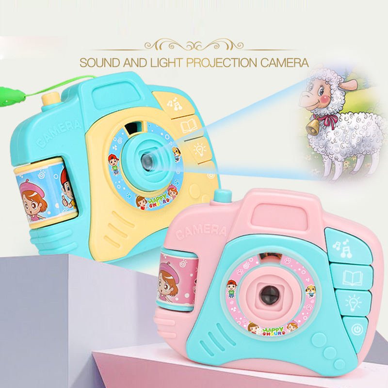 12cm Children Electric Mini Simulation Sound and Light Projection Camera Toys Baby Cartoon Plastic Educational Toys Gifts