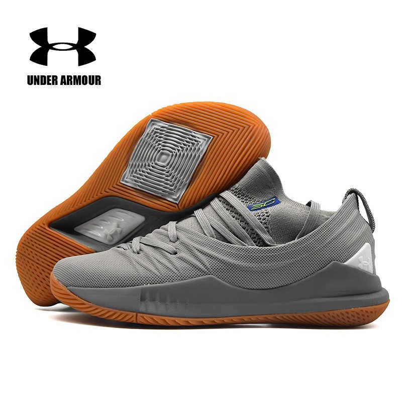 c2fa6de77d27 Under Armour UA Curry 5 Basketball Shoes Men zapatos hombre Black Gray Sneakers  Men Athletic Sports