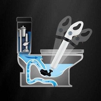 Limpiador De Desagüe | Émbolo De Inodoro De Alta Presión, Bomba De Drenaje De Aire, émbolo Limpiador Para Inodoro, Ducha, Cocina, Bañera