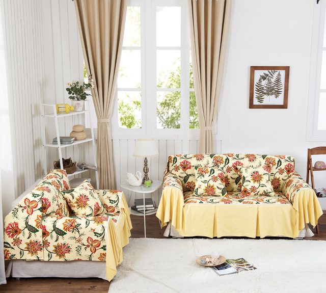 Sofa Cover Cotton Canvas Style Sheets There Are All Kinds Of Suitable For Single