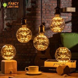 Image 2 - Led lamp E27 FootBall Starry Sky led light bulb 110V 220V Dimmable lampada led for home/living room/bedroom decor bombillas led