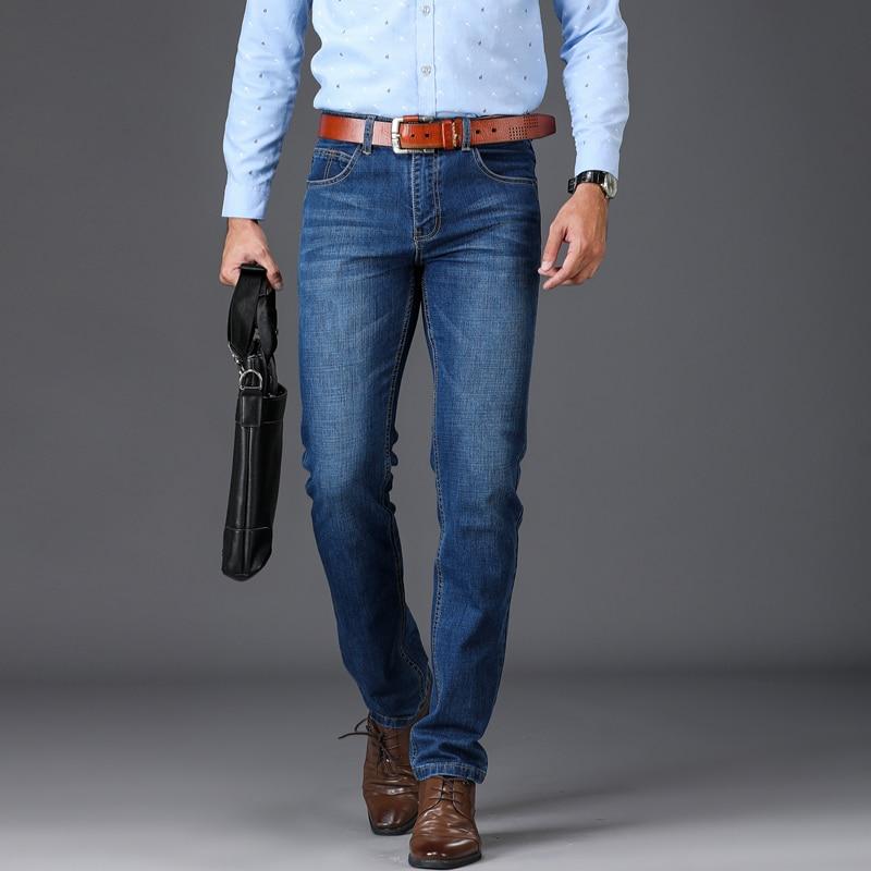 SULEE Brand Straight Denim Jeans Men Men Spring Autumn Jeans Stretch Classic Cotton Trousers Men Casual Denim