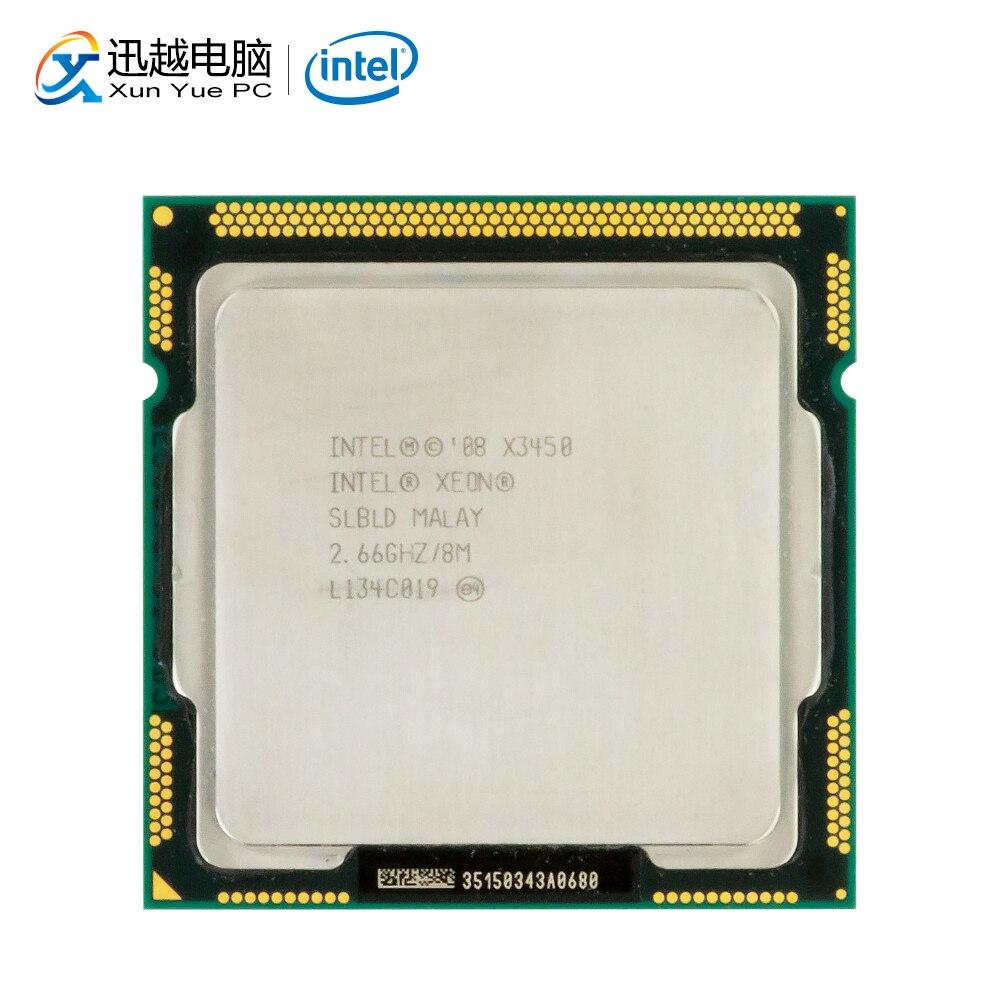 Intel xeon x3450 processador de mesa 3450 quad-core 2.66 ghz 8 mb dmi 2.5gt/s lga 1156 servidor usado cpu