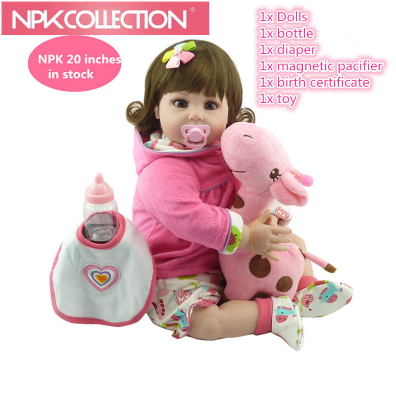 New Fashion Cheap 20 Adora Baby Doll Reborn Lifelike Live Baby Girl Child Dolls Kid Silicone Girl Toys For Children Gifts baby girl child baby girl gift children bicycle bike page 1