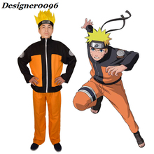 цена на Naruto cosplay anime cosplay costume Uzumaki Naruto clothes Halloween costume wigs headdress adult exhibition cos Uchiha Sasuke