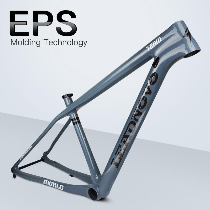 все цены на LEADNOVO 27.5/29er pf30 EPS mtb carbon bike frame mountain bicycle frameset bicicletas mountain bike 950g chinese carbon frames