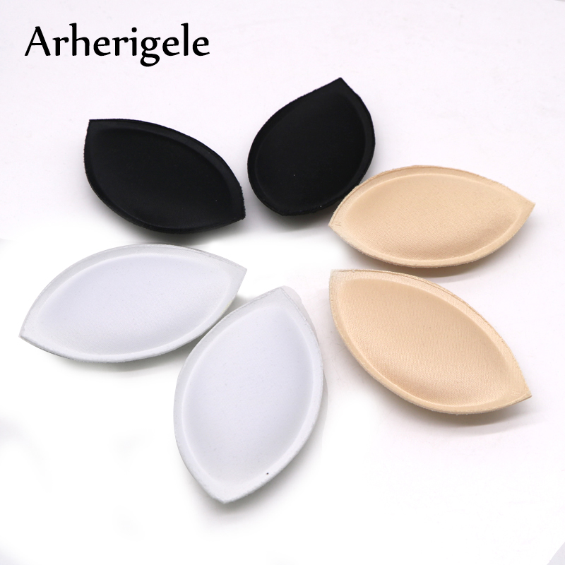 Arherigele Women Sponge Foam Swimsuit Pad Inserts Invisible Bra Bikini Breast Push Up Bra Pads Removeable Bra Pads Accessories