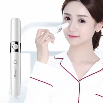 F52E Sonic Eye Massager Anti Wrinkle Pen Mini Massage Device Electric Facial Vibration Magic Stick Skin Care Beauty Tool Facial Steamers