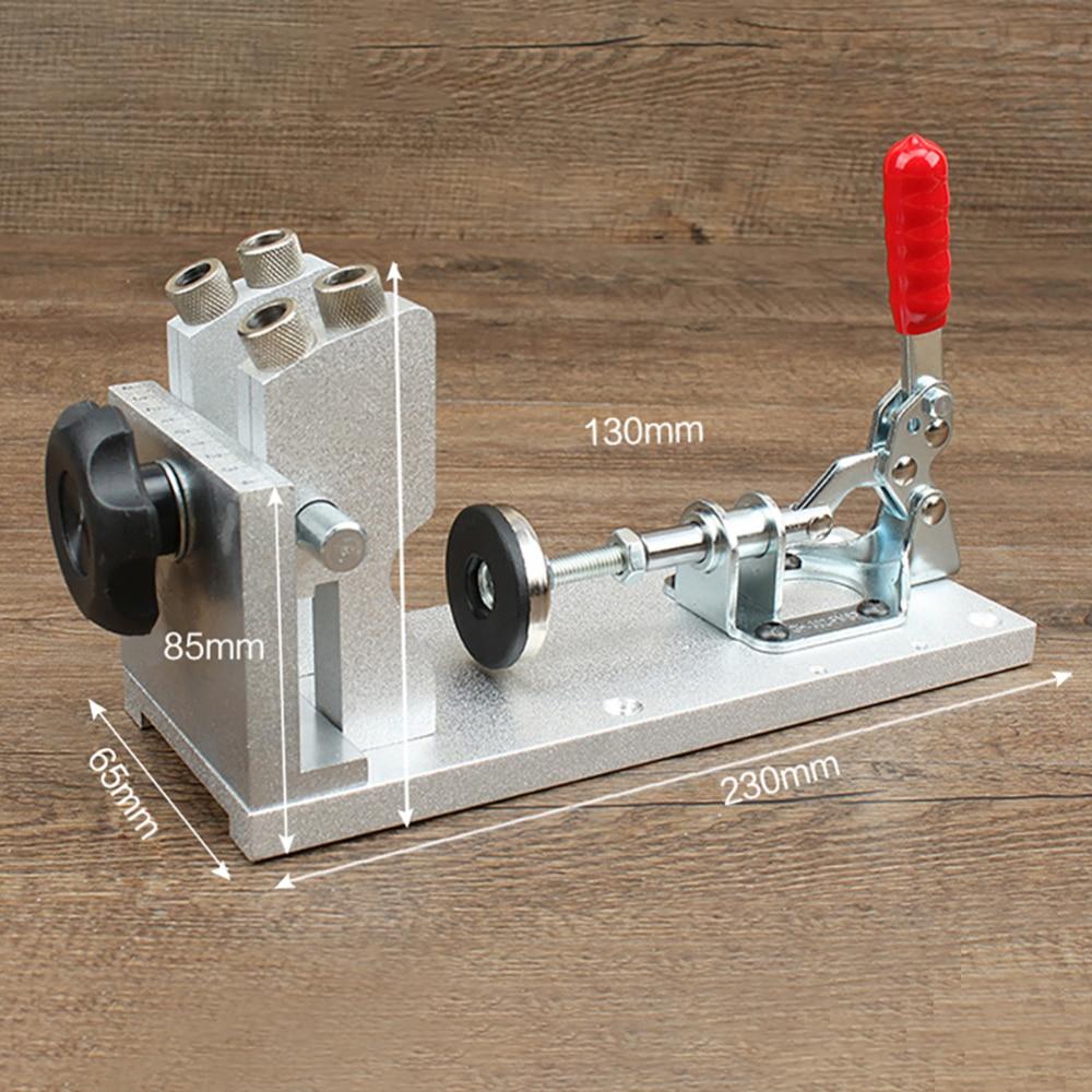 Oblique Hole Drilling Locator Wood Pin Puncher Woodworking Manual Fixture Tool Professional Aluminum Alloy