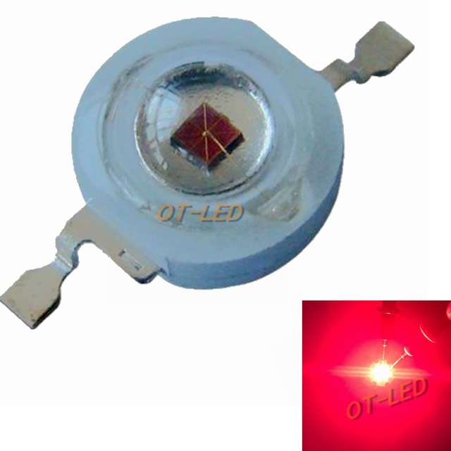 100pcs 660nm 3W 2W 42mil 2 4V 700mA EPILEDS Deep Red LED Beads Diodes Plant Grow