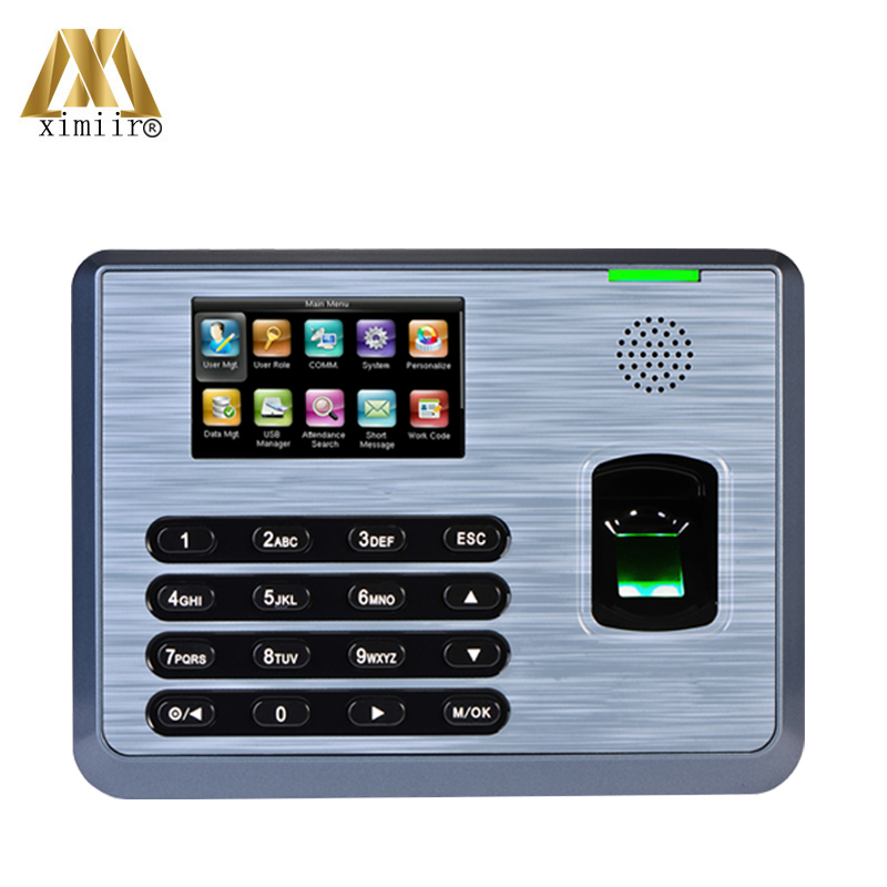 Good Quality TX628 TCP/IP Communication 3-inch Touch Screen Biometric Fingerprint Reader For Time Attendance Clock