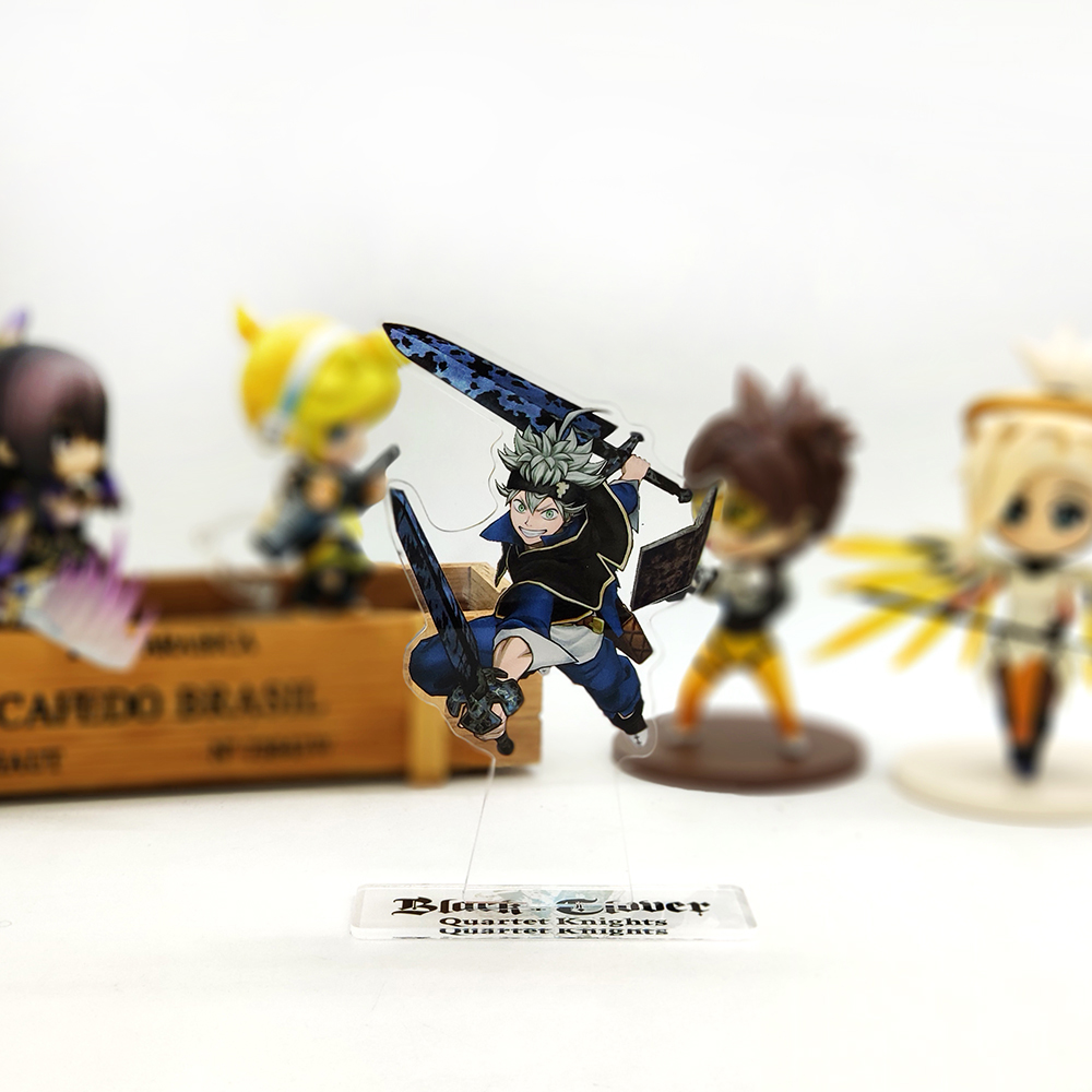 Love Thank You Black Clover Asta 5 Leaf Magic Acrylic Stand Figure Model Double-side Plate Holder Topper Anime Japanese