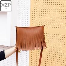 XZP 2019 Funny Bohemian Casual Girls Ladies Fringe Women's Bags Shoulder Purse New Product Messenger PU Tassel Mobile Phone Bag