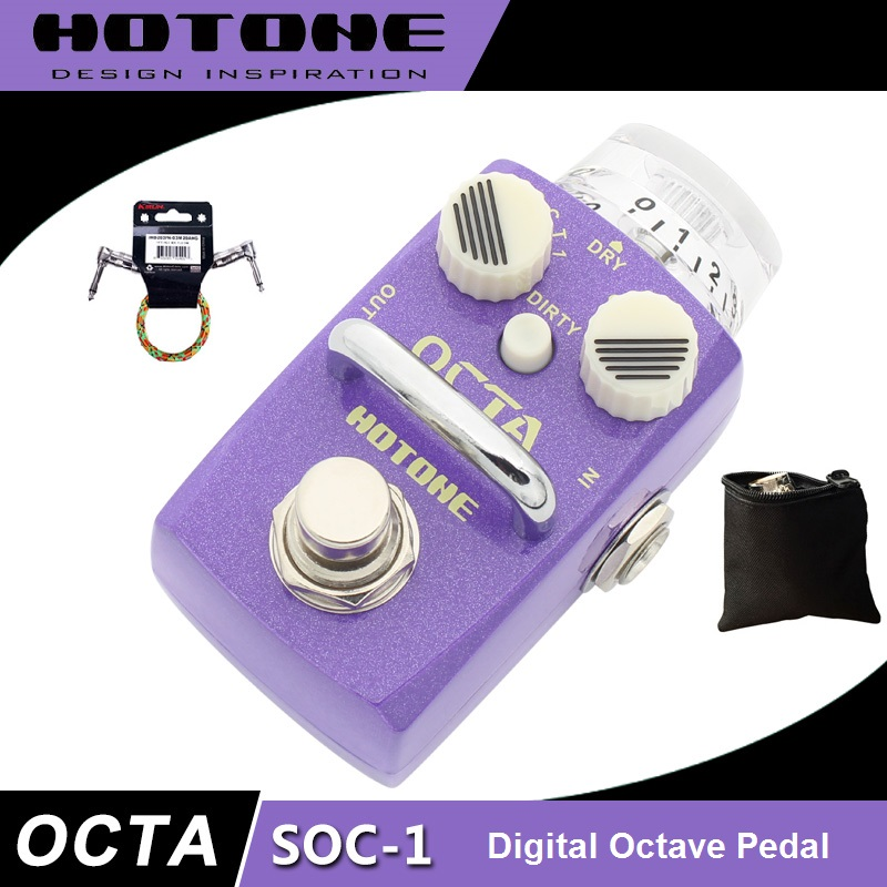 Hotone Skyline Series OCTA Octave Guitar Effects Pedal with Free Pedal Case and More nux octave loop pedal with 1 octave guitar effect looper free bonus pedal case