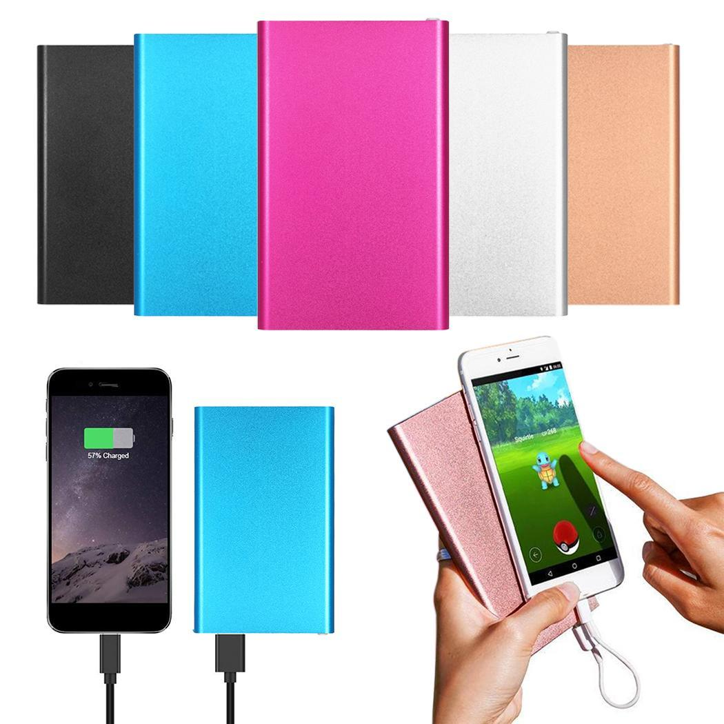 Ultra-thin External Battery Power Bank 4000 mAh Portable Powerbank Generic Emergency Mobile Power Charger For Cell Phone Tablets