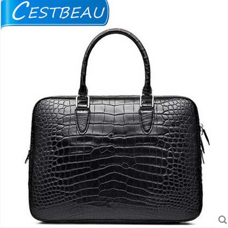 cestbeau crocodile men's bags Belly men handbag  whole skin without joining together the abdomen leather briefcase free shipping men without women