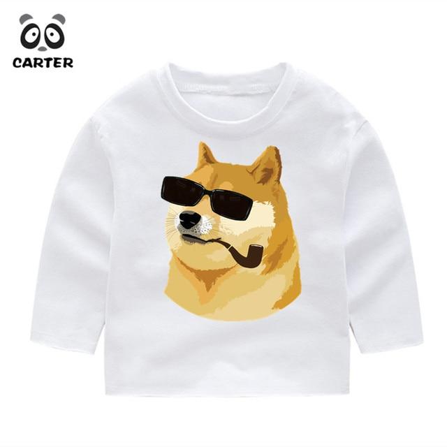 Kid S Cartoon Doge Puppy Dog Pals Funny Full Sleeve T Shirt