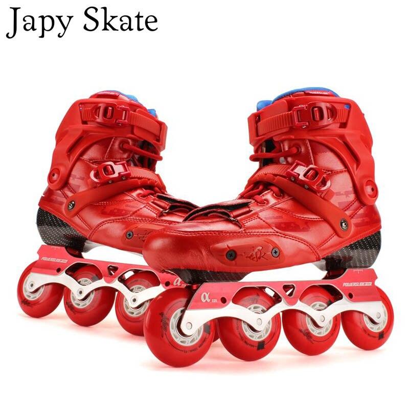 Prix pour Jus japy Skate D'origine 2016 Powerslide EVO Slalom Professionnel Patins À Roues Alignées Rouleau Adulte De Patinage Chaussures Coulissante Livraison De Patinage Patins