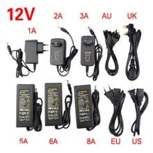 LED Adapter 12V 1A 2A 3A 5A 6A 8A 10A Strip Power Supply Low Voltage Transformer Driver Plug For Strip&Computer