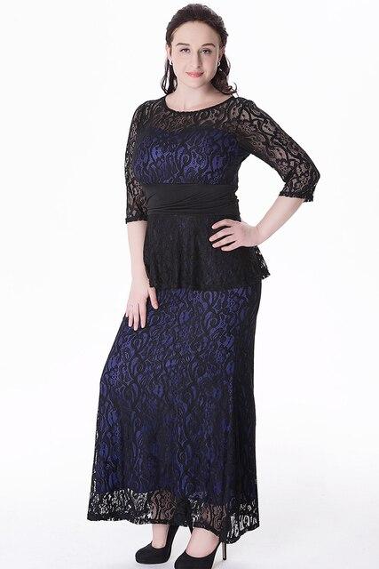 4eea6ba88cb Women Party Dress Plus Size XL- 6XL Hollow Out Lace Dress Bohemian Style  Robe Femme