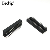 Free Shipping 10pcs 24pin Pins DIP IC Sockets Adaptor Solder Type Socket Narrow