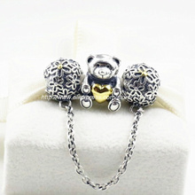 925 Sterling Silver Charms and Charm Bead Jewelry Set Fit European Style Bracelets Necklaces & Pendants- Lovely Bear