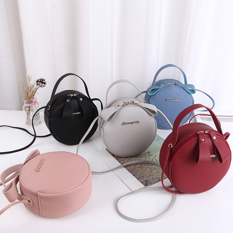 New Fashion Women Bag Mini Round Handbag PU Leather Ladies Crossbody Bag Simple Circular Messenger Bag Bolsas Feminina