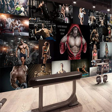 Fashion gym boxing sexy men and women poster tooling background wall professional production wallpaper mural