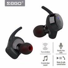 SAGU Verdadeiro US-001 Esporte Fone De Ouvido Fone de Ouvido Com Cancelamento de Ruído Fones de Ouvido Bluetooth Sem Fio fone de Ouvido com a BT 4.2 e Som Stereo Surround