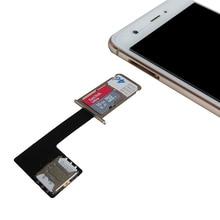 купить 1Pcs Black Dual SIM SIM Adapter for Android TWO 2 Nano SIM NANO-SD Memory Card Converter For XIAOMI REDMI NOTE 3 4 3s дешево