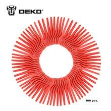 DEKO 100pcs Swing Plastic Blade Pendants for DKGT06 20V Lithium 1500mAh Cordless Grass Trimmer Garden Timmer A