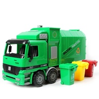 Children's Side Loading Garbage Truck Can Be Lifted with 3 Rubbish Bin Toy Car Car Toys Train Set Christmas Gift