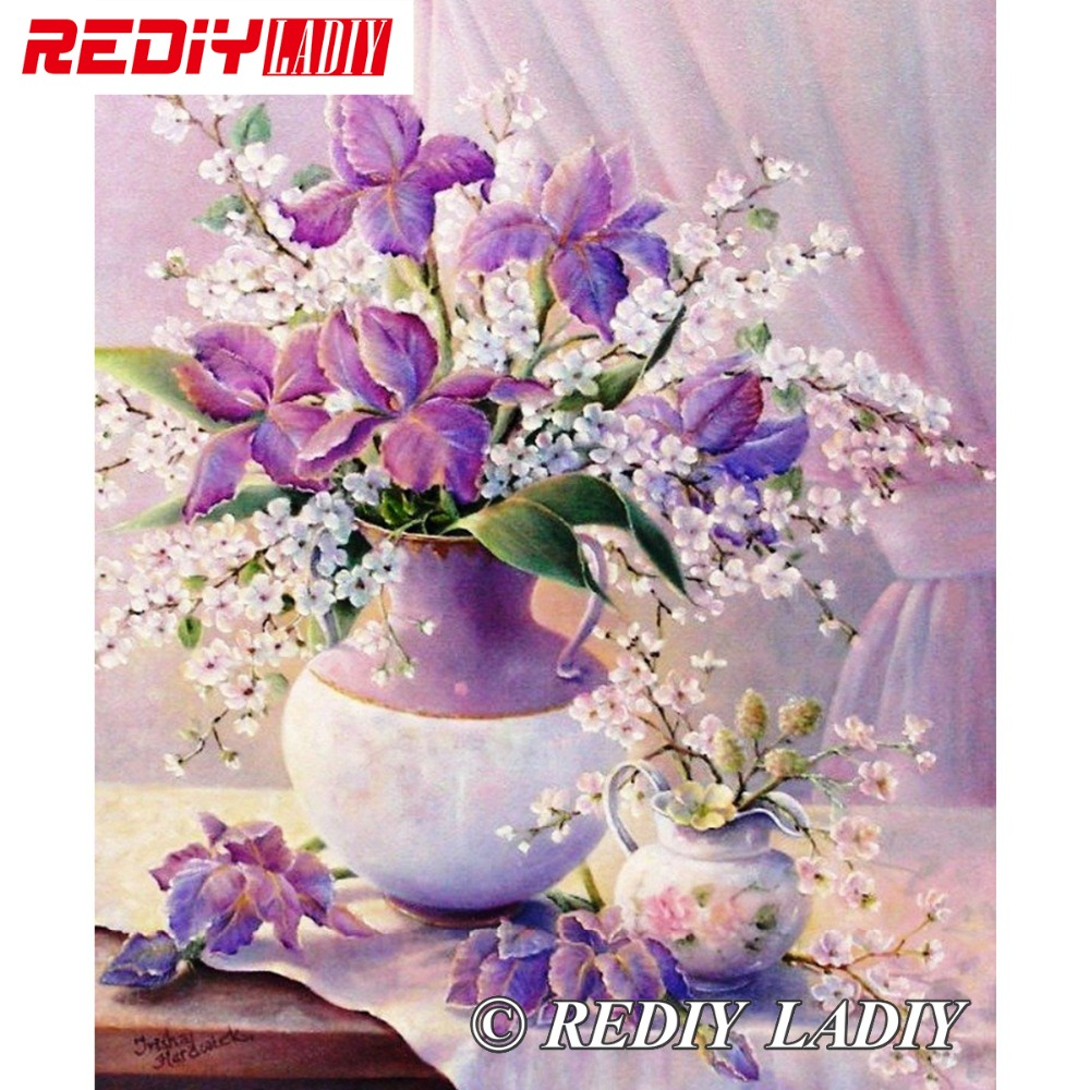 30x39cm Accurate Printed Crystal Beaded Embroidery Kits Still Life Flowers Beadwork Crafts Needlework Beaded Cross Stitch APT656