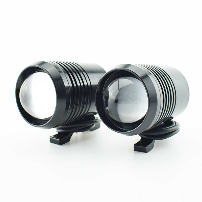 2Pcs Motorcycle Headlight Motorbike Spotlight U2 30W Led Driving Car Spot Fog Light Moto Head Light Flash Lamp DRL Accessories