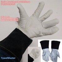 Premium TIG MIG Welding Glove Grain Goatskin 5 127mm Cuff Split Cowhide Leather KEVLAR Seamless Finger