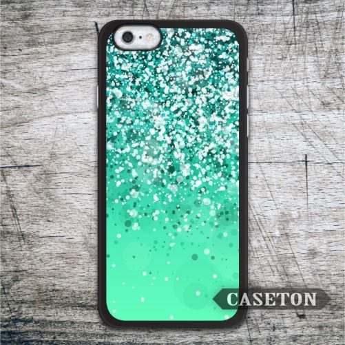 Mint Glitter Lovely Case For iPhone 7 6 6s Plus 5 5s SE 5c 4 4s and For iPod 5 High Quality Ultra Phone Cover Free Shipping