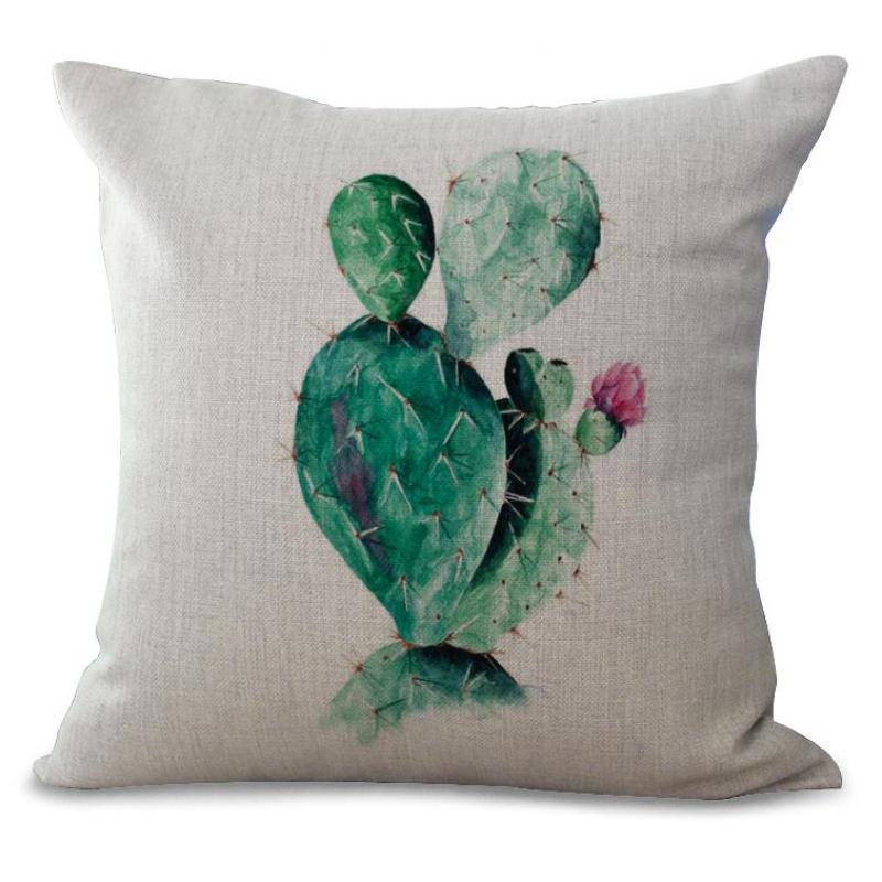 Hersteller Verkauf Retro Pflanzen Druck Baumwolle Leinen Dekokissen Wohnzimmer Sofa Brostuhl Dekorative KissenChina