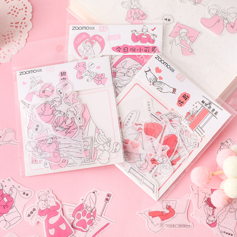 40 Pcs/pack Salt Life Small Person Series Decorative Stickers Scrapbooking Stick Label Diary Stationery Album Kawaii Stickers