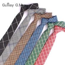 Ties Cravat Business-Tie Mens Necktie Wedding Plaid Adult Cotton New Casual for Narrow