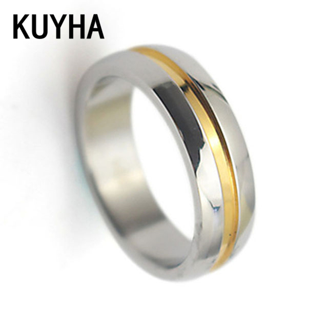 Fashion Jewelry Couple Promise Rings Silver and Gold Engagement