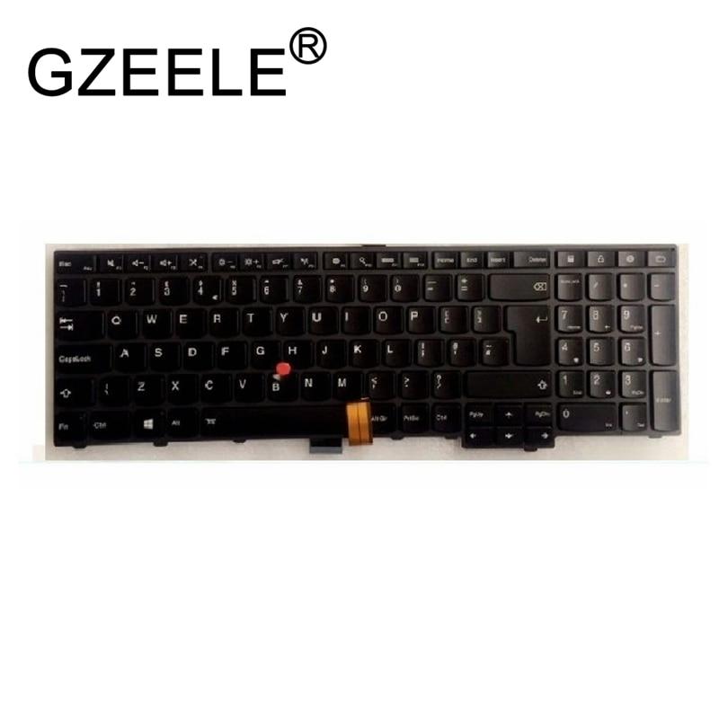 GZEELE New for IBM Lenovo for ThinkPad E531 04Y2494 0C45059 04Y2416 0C44981 53R0AP KMBL-UKE Backlit keyboard UK layout gzeele new us laptop keyboard for lenovo for ibm thinkpad edge e530 e530c e535 e545 04y0301 0c01700 v132020as3 without backlight