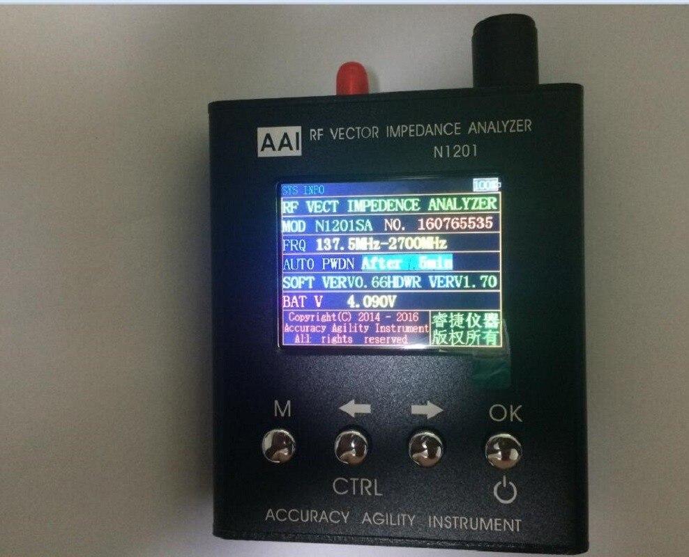 2017 Inglese verison N1201SA Nuovo 140 MHz-2.7 GHz UV RF Impedenza di Vettore ANT SWR Antenna Analyzer Tester del Tester