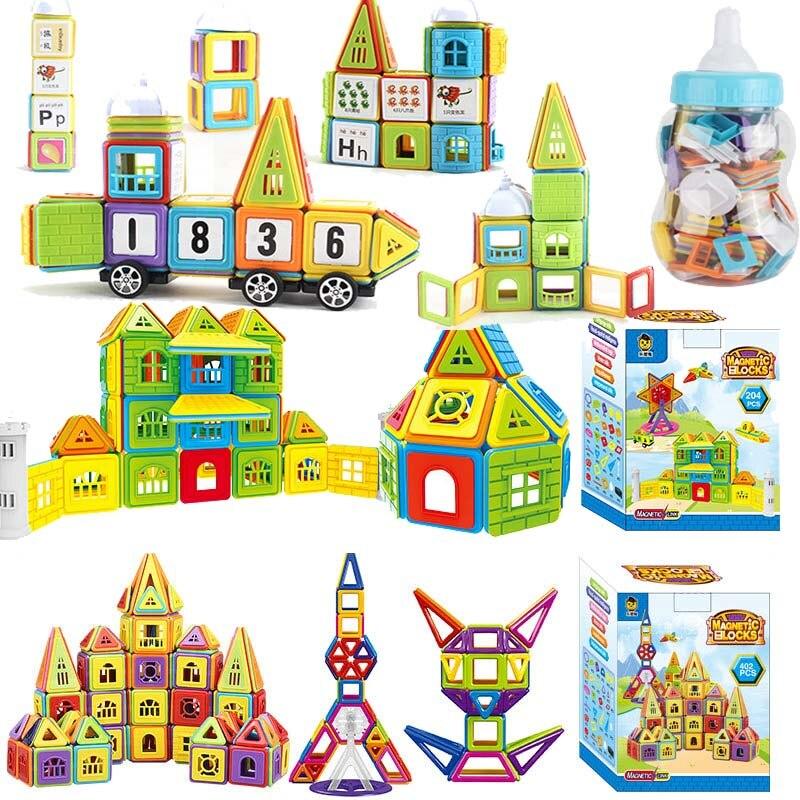 77-160PCS Kids Magnetic Building Blocks Tiles Educational Set Construction Toys