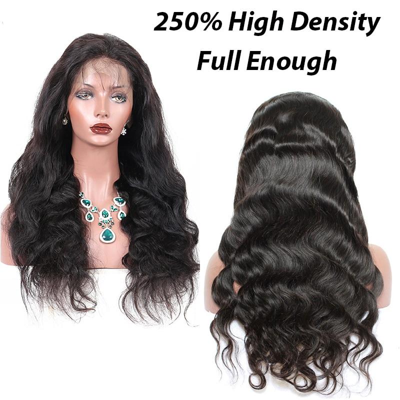 250% dichtheid 13x6 kant voor menselijk haar pruiken voor vrouwen met - Mensenhaar (voor zwart) - Foto 2