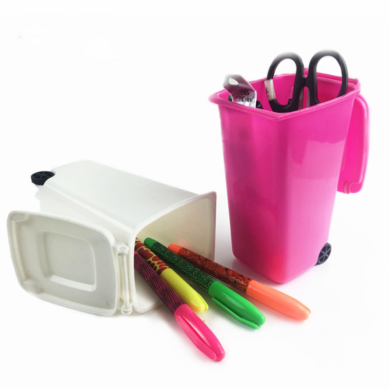 Pen Holders Persevering Stick On Desktop Makeup Storage Pen Holder Plastic Desk Organizer Stationery
