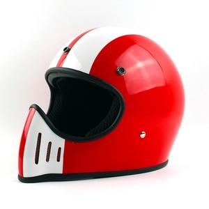 Image 4 - Ttの共同トンプソンmoto rcycleヘルメットフルフェイスcasqueヴィンテージヘルメットチョッパーゴーストライダーレトロヘルメットcasco moto