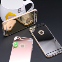 Nice New Luxury Gold Mirror Case For iPhone 6 6s cases Soft Back Cover For iPhone 4 5 cases Phone Cases For iPhone 7 7plus cheap Crorange Half-wrapped Case Apple iPhones IPHONE 6S IPHONE 4S iPhone 6 Plus iPhone 5s iPhone5c iPhone 6s plus Iphone SE iPhone 7 Plus